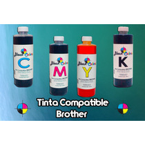 Tinta Base Agua Compatible Brother 250 Ml Con Dosificador