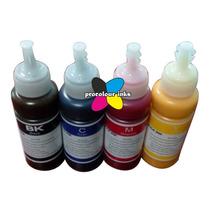 Tinta Pigmentada Para Hp Pro 8000 8500 4 Frascos De 250mlts