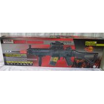 Rifle Automatico Para Balines Con Mira Telescópica