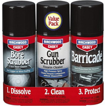 Kit 1-2-3 Birchwood Casey Gun Bore Scrubber And Barricade