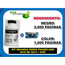 Kit Recarga Xerox Phaser 6000 6010 Wc 6015 + Chip (b/c/y/m)