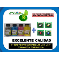 Kit Bote Y Chip Toner Hp 176 Mfp M176 M177 350/351/352/353a