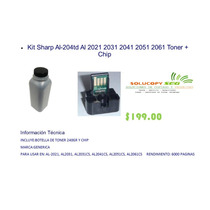 Kit Sharp Al-204td Al 2021 2031 2041 2051 2061 Toner + Chip