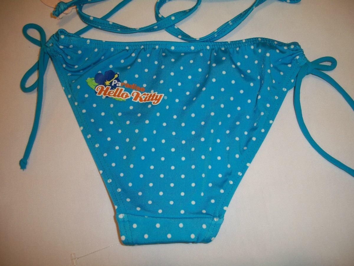 Lenceria De Baño De Hello Kitty:traje-de-bano-bikini-para-nina-hello-kitty-6-anos-13345-MLM73044312