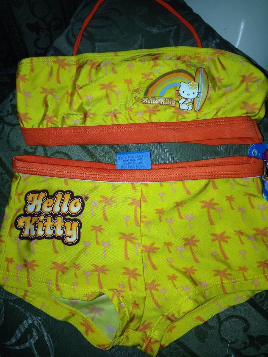 Lenceria De Baño De Hello Kitty:Traje De Baño De2 Piezas Hello Kitty Talla6años – $ 15000 en
