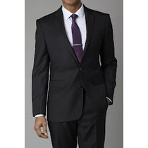 Saco Steve Harvey Negro Lineas Tallas Extras 44 Regular Pm0