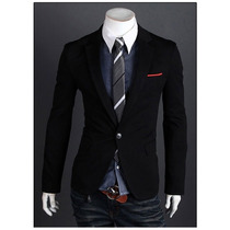 Saco Blazer Hombre Elegante Moda Slim Fit Entallado Japonés
