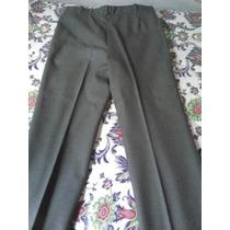 Pantalón De Vestir Gris Para Caballero.