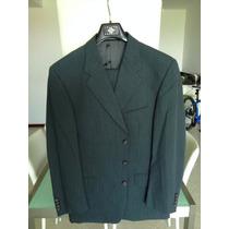 Traje Joseph Abboud Original Gris Verde Saco 40 Pantalon 32
