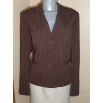 Saco Blazer Ejecutivo Formal Color Cafe Talla 36