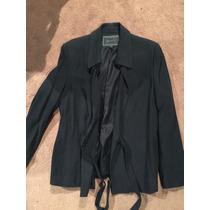 Saco De Traje Negro Oficina Mujer Elegante Talla M