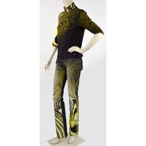 Conjunto De Pantalón Y Blusa Verde Con N