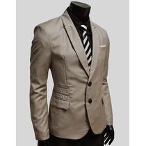 Saco Blazer Hombre Elegante Moda Slim Fit Casual Traje
