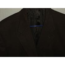 Exclusivo Saco Jeffrey Banks Couture Color Chocolate T 44