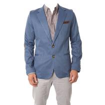 Blazer Casual-moderno Slim Fit Para Hombre Talla S