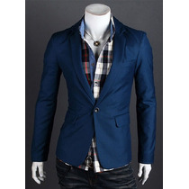 Saco Blazer Juvenil Hombre Casual Slim Fit Elegante Moda