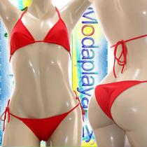 Bikinis Triangulito Femeninos Rojo Para Damas, Mujeres
