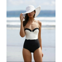 Traje De Baño Push Up Monokini Vintage Retro!!!