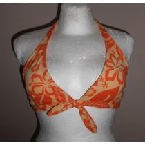 Xhilaration!! Moderno Top De Bikini, Naranja Con Flores, L
