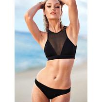 Bikini Mujer Vintage, Tankini Mujer Retro Negro