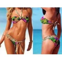 Bikini Traje De Baño Animal Print Moda Importada