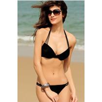 Bikini Push Up Tiras Traje De Baño Halter Moda Importada