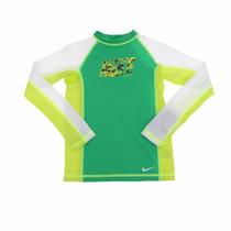 Playera Traje De Baño Niño Nike Con Filtro Solar Uv 6/8 Años