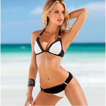 Bikini Vintage Push Up Hermoso Traje De Baño Mujer