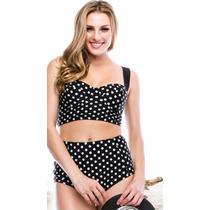 Bikini Marina West Stilo 702 Black White Dot