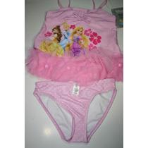 Traje De Baño 2 Piezas Niña Disney Store Princesas Talla 7 8