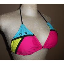 Op! Moderno Top De Bikini, Tonos Vivos, Talla L
