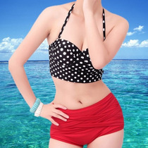 Hermoso Bikini Vintage Push Up Retro Dots