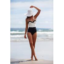 Bikini Vintage Push Up Hermoso Traje De Baño Mujer Bicolor