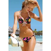 Bikini Florestraje De Baño Push Up Moda Importada