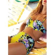 Traje De Baño Bikini Cintura Alta Retro Vintage Barato!!!
