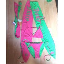 Padrisimo Set Completo De Bikini Juicy Couture Doble Vista!!