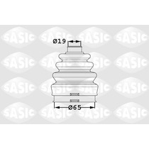 Repuesto C/polvo Fiat Grande Punto Palio L/c Sasic 7715294