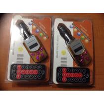 Transmisor Fm C/control Remoto Usb/sd Cards Mp3/wma Folder