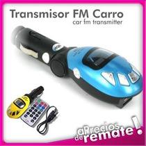 Transmisor Fm Control Remoto Mp3 Usb Sd Entrada 3.5 Colores