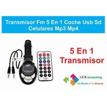 Transmisor Fm P/ Autos Mp3 Pantallas Lcd Lector Usb Y Sd