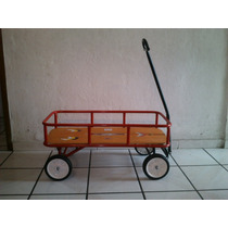 Carro De Niño Con Jaladera Tipo Radioflyer