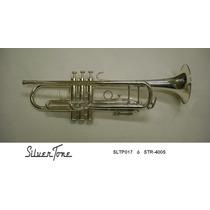 Trompeta Sib Plateada Doble Poste Silvertone Sltp017