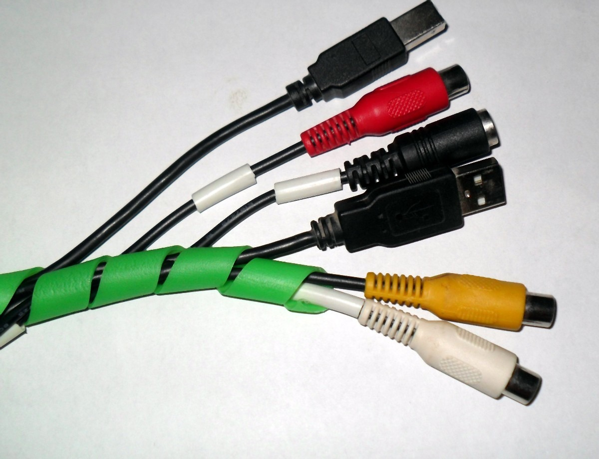 Tubo espiral organizador de cables manguera amarracable - Tubos para cables ...