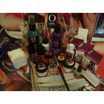 Pkt Organic Nails Con Neceser, Uñas Acrilicas,lampara,finish