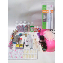 Kit Uñas Acrílico Profesional Lampara 12 Watts Y Finish Uv