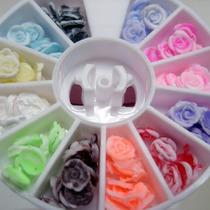 Flores, Rosas De Goma, Decoracion Para Uñas Acrilicas