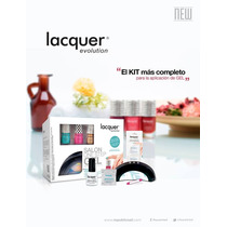Lacquer Evolution+lampara+6esmaltes+extrashine+matte+regalos