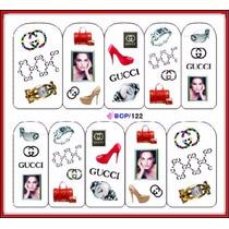Calcamonias Stickers Decoracion Uñas Diseño Manicure Moda Cc