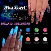 Acrilico Uñas Brillan Obscuridad Glow In The Dark Mia Secret