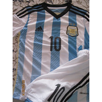 Conjunto Selecc Argentina 2014 Adidas Niño Estampa#10 Messi